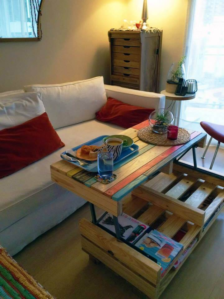 DIY Pallet Lift Top Table | 99 Pallets