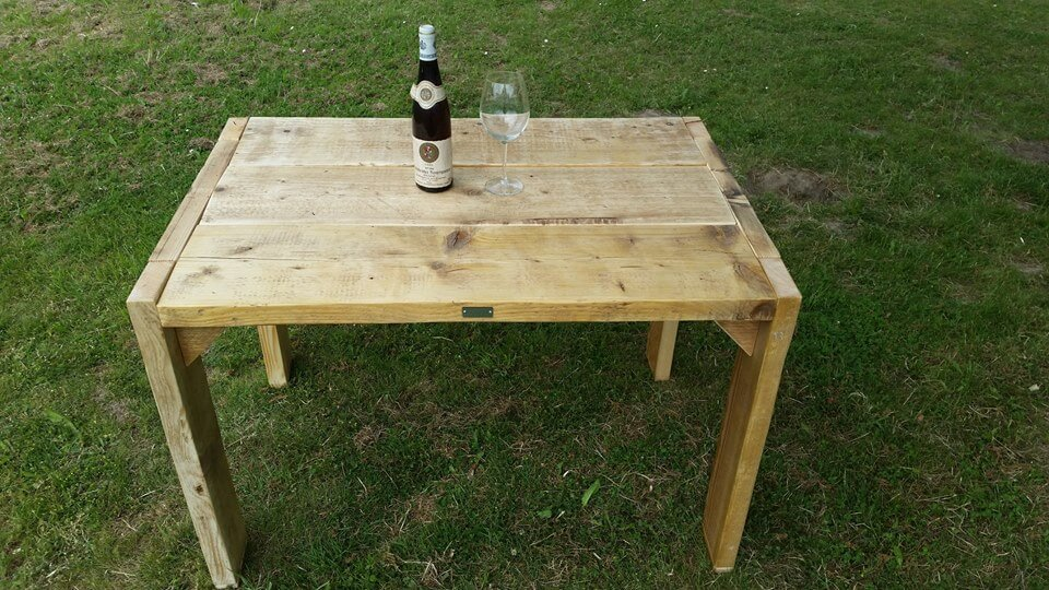 handcrafted pallet outdoor accent table