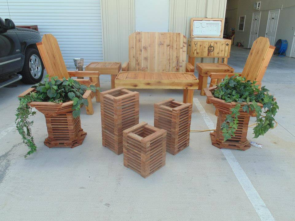 upcycled pallet complete pallet patio set