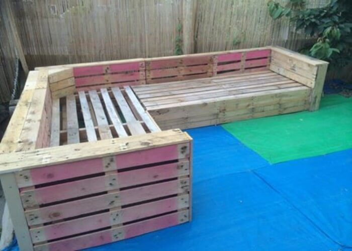 Diy Pallet Patio Garden Corner Sofa Pallets