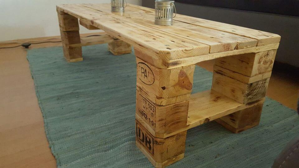 DIY Pallet Wooden Table | 99 Pallets