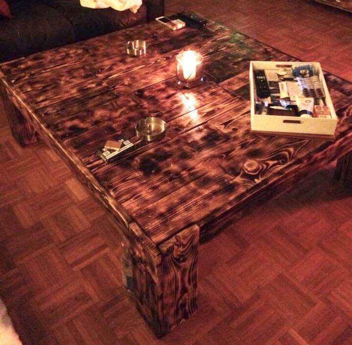 repurposed pallet x-large vintage coffee table