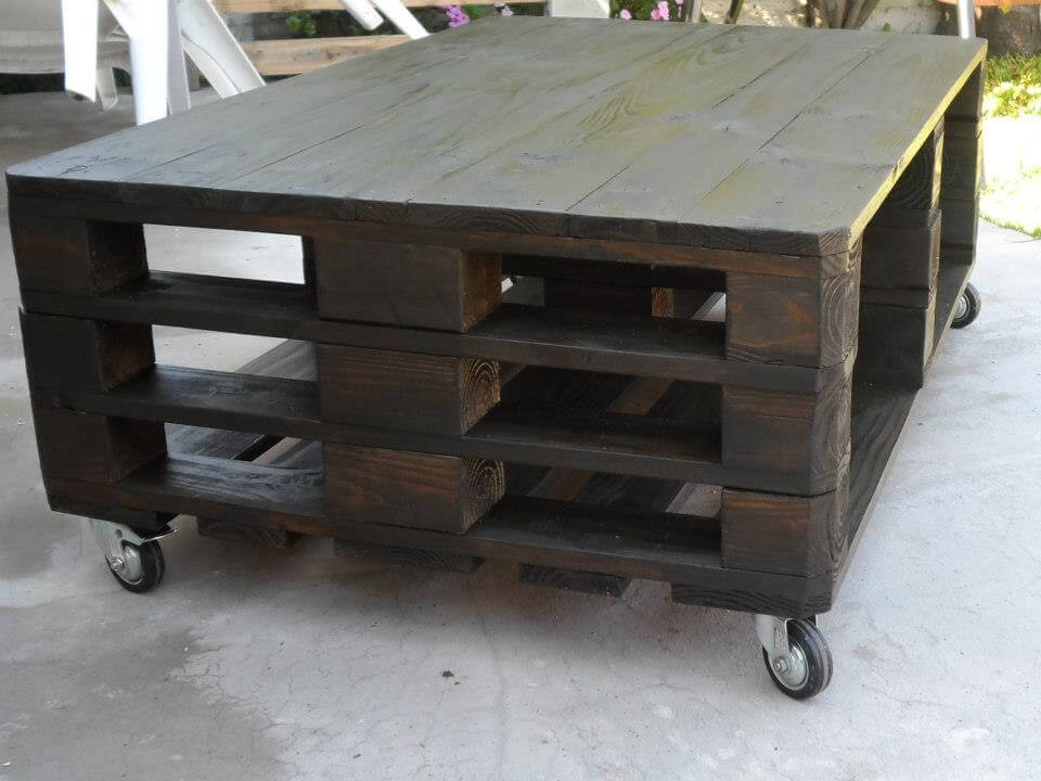 upcycled pallet wooden pallet coffee table
