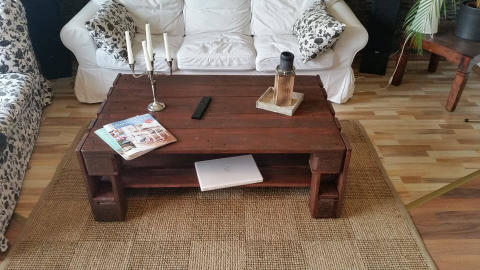 wooden pallet choco coffee table