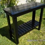 DIY Stained Pallet Console Table