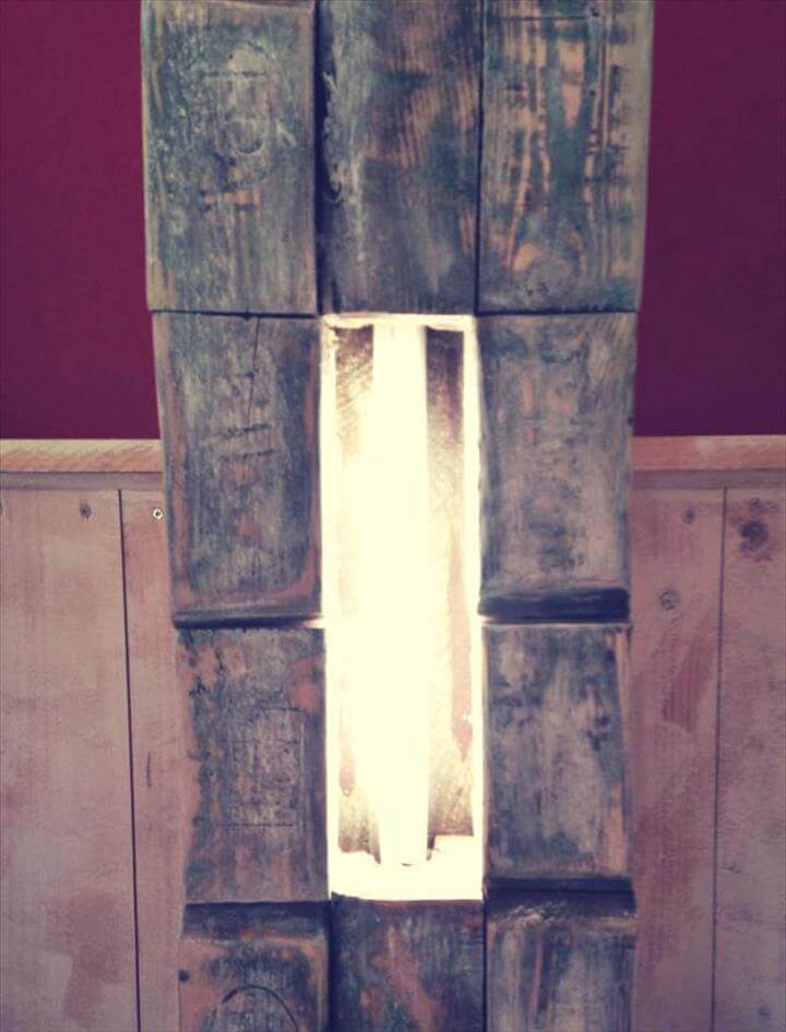 upcycled rustic pallet light