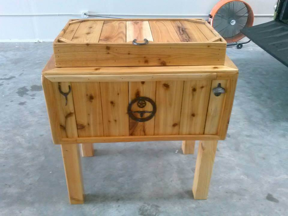 Diy pallet outdoor ice chest pallets