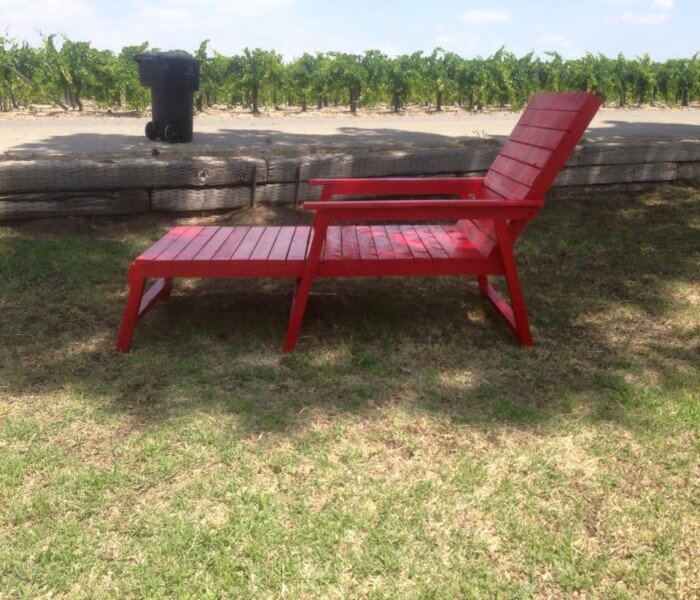 handmade wooden outdoor lounger and daybed