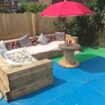 DIY Pallet Patio or Garden Corner Sofa