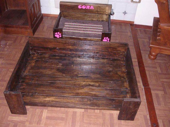 Diy pallet dog bed make your dog relaxed 99 pallets for Diy dog beds out of pallets