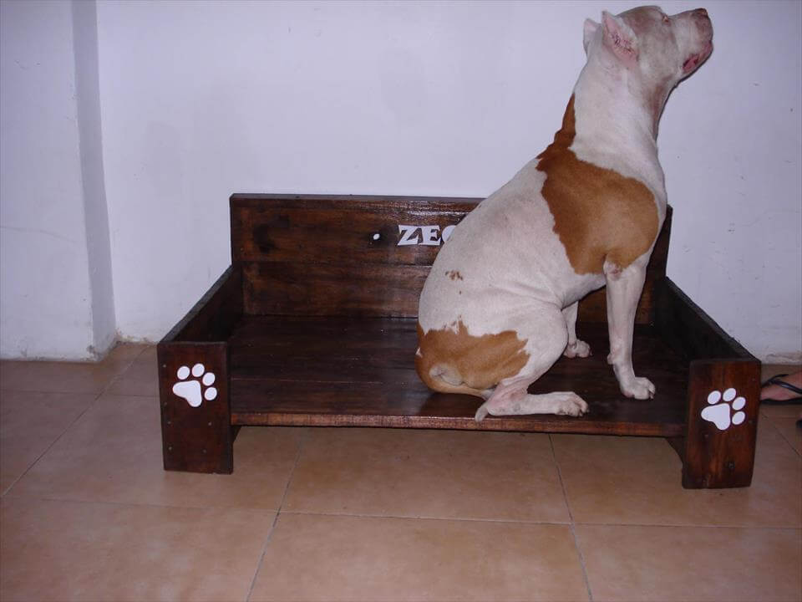 handmade pallet dog bed
