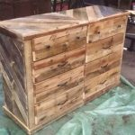 Wooden Pallet Dresser / Chest of Drawers!