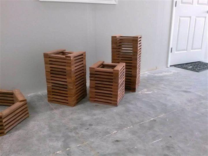 Wood Pallet Floor Lamps