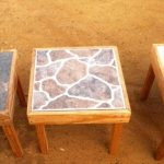 DIY Pallet Stool With Ceramic tiles