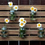 Pallet and Mason Jar Wall Organizer