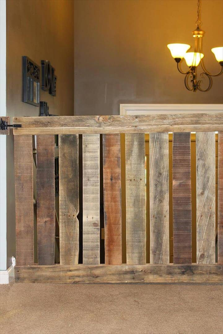 upcycled pallet baby gate