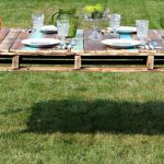 Pallet Dining Table with Reclaimed Legs