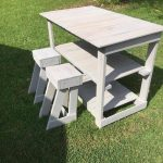 Pallet Island Table – Stools – Kitchen Furniture Set