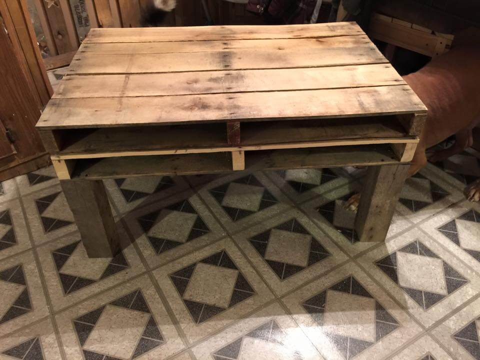 pallet coffee table with magazine rack