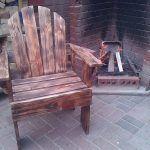Reclaimed Wood Pallet Outdoor Armchair