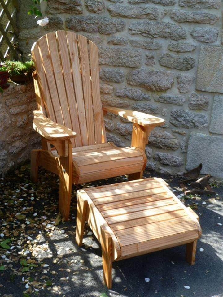 Pallet Adirondack Style Patio Furniture Set