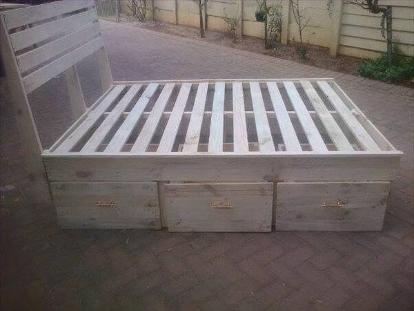 recycled pallet bed frame - Diy King Size Bed Frame