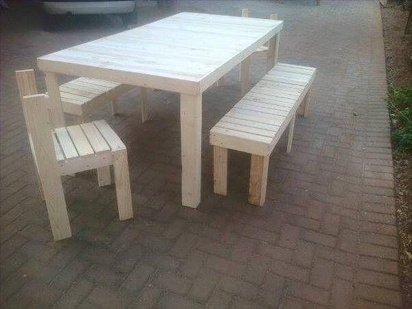 DIY Pallet Outdoor Dining Set 99 Pallets