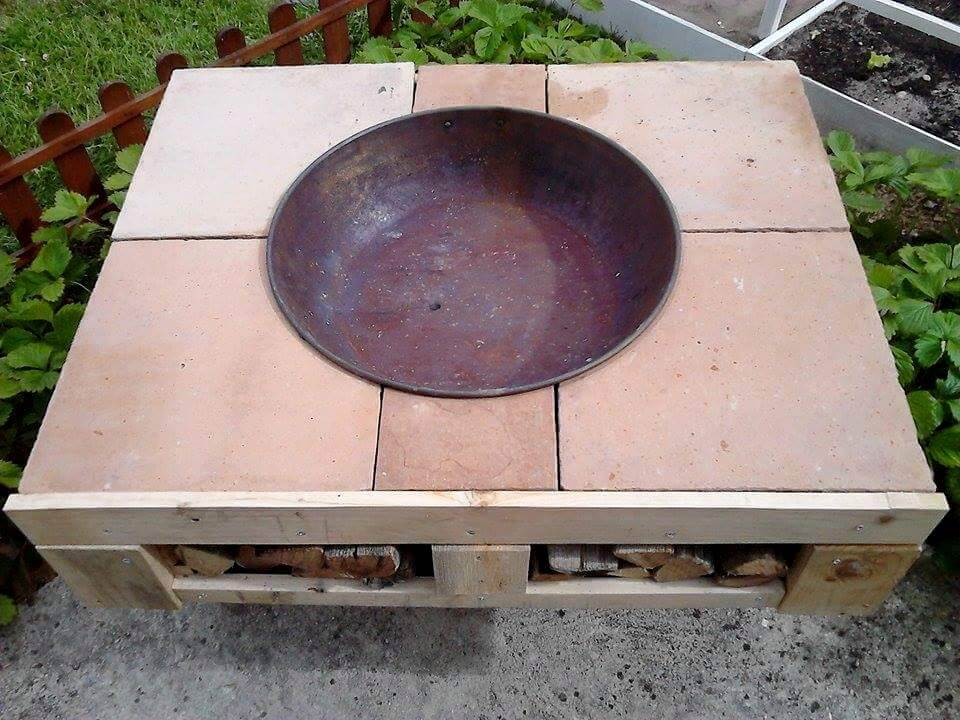 upcycled pallet fir-pit table