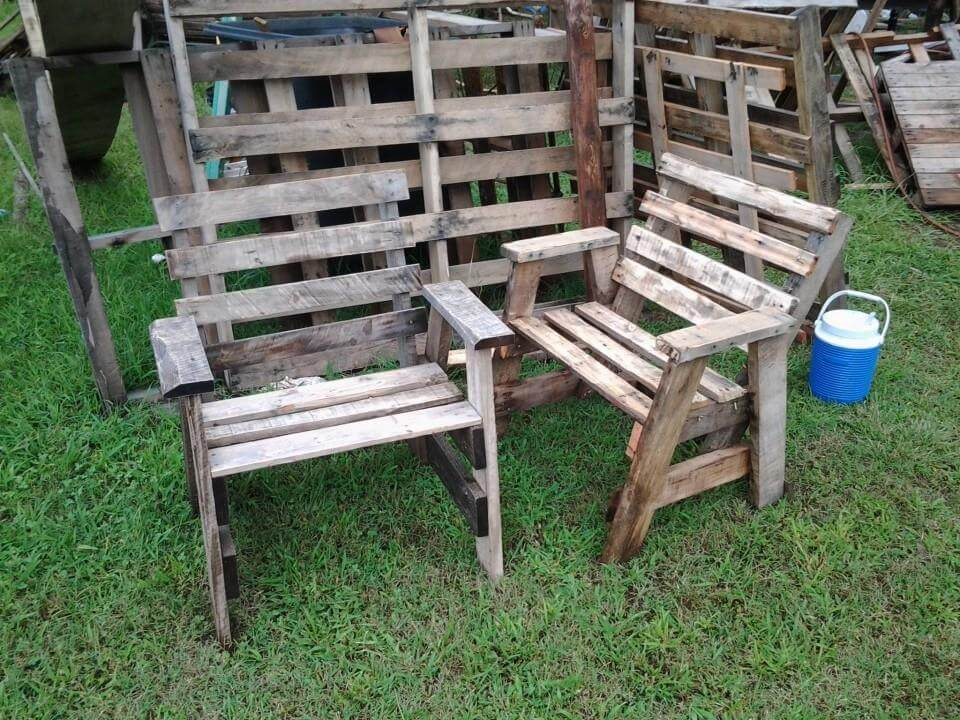 Recycled pallet A frame chair