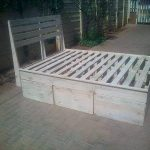 Pallet King Size Bed Frame with Headboard