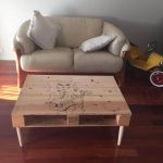 Pallet Coffee Table with Sketch Art