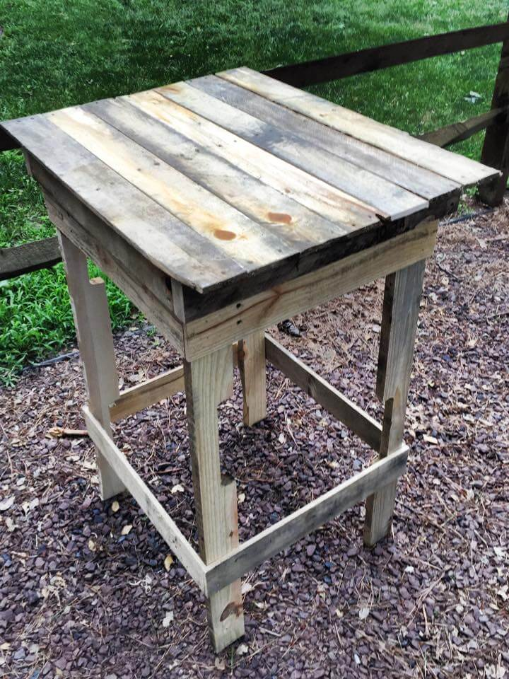 Upcycled pallet side table 99 pallets for End tables made from pallets