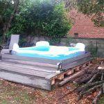 DIY Pallet Outdoor Platform Pool