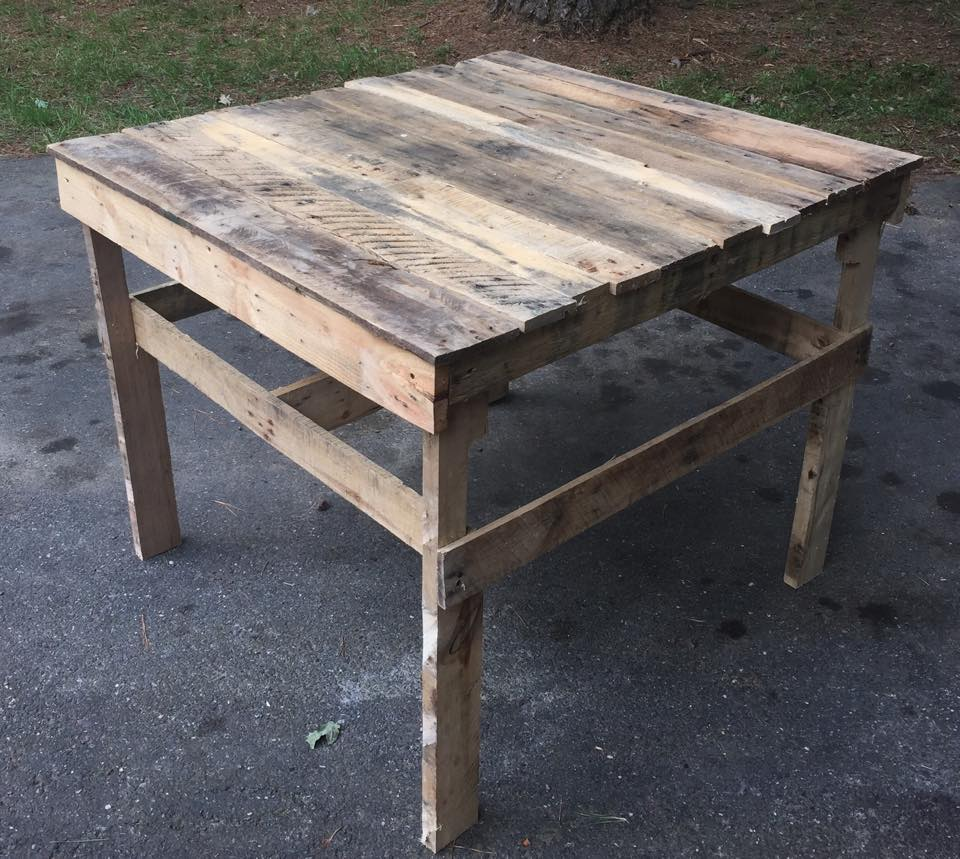 Pallet Patio Coffee Table / Potting Table | 99 Pallets