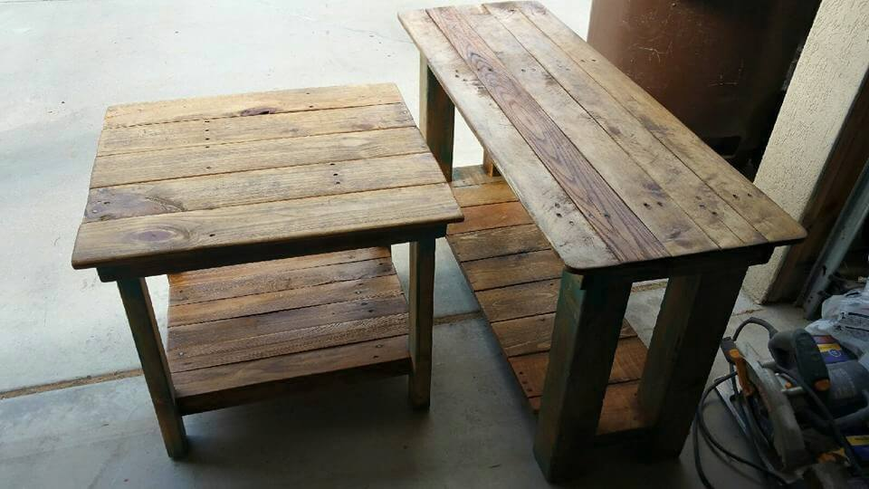 Pallet Console Table End Sofa Table 99 Pallets