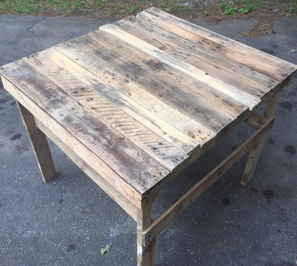 Pallet patio coffee table potting table Patio coffee tables