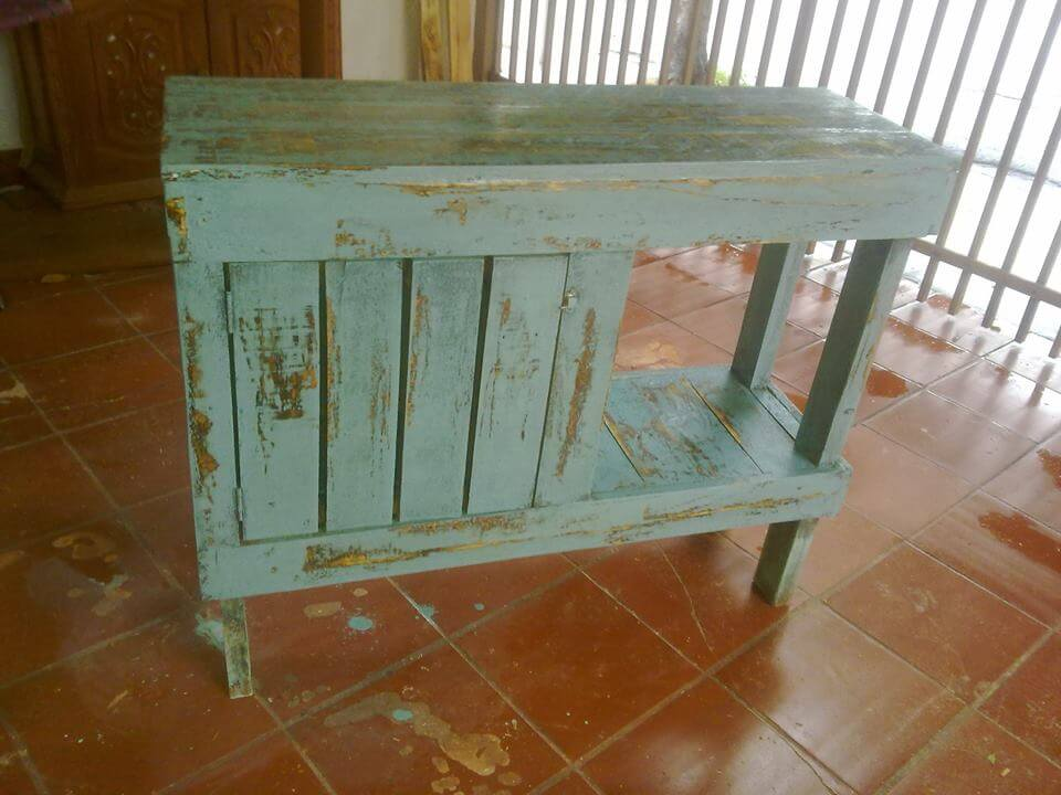 Pallet Kitchen Island Console Table 99 Pallets
