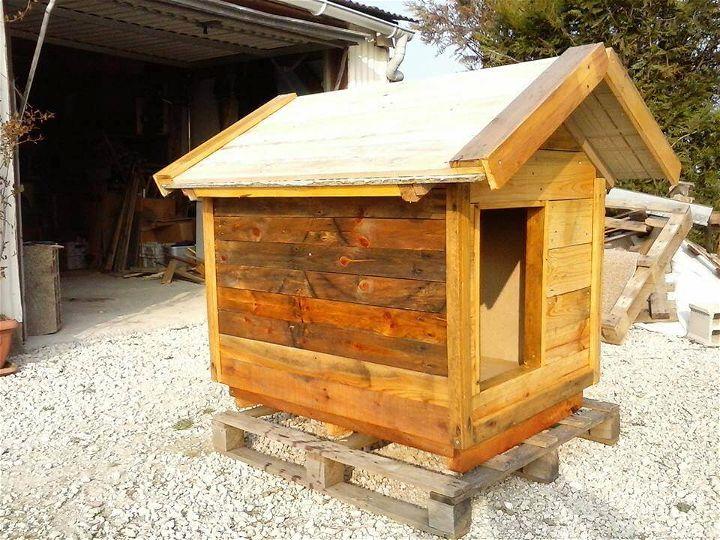 wooden pallet puppy house