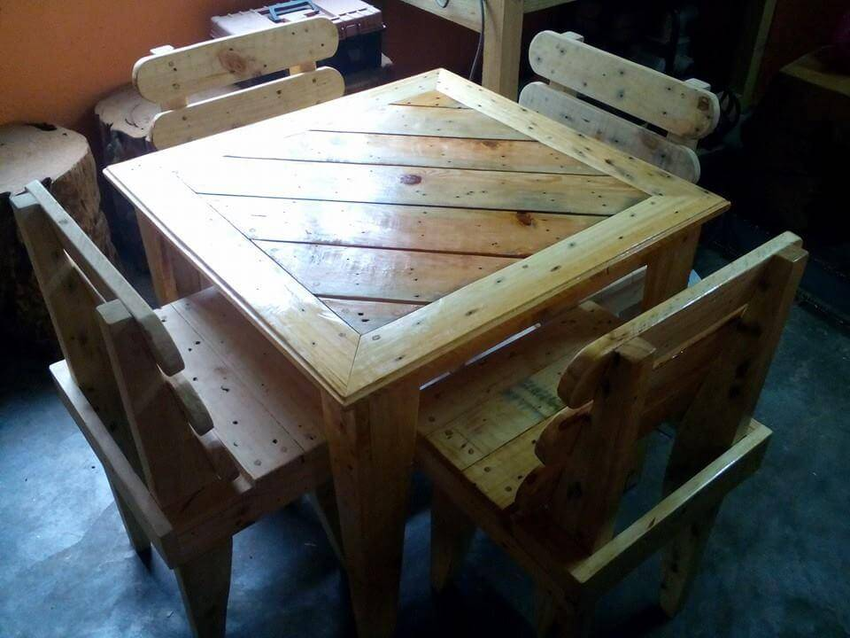 diy pallet dining table and chairs for kids 99 pallets