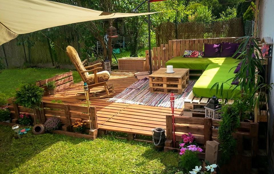 renovated pallet deck