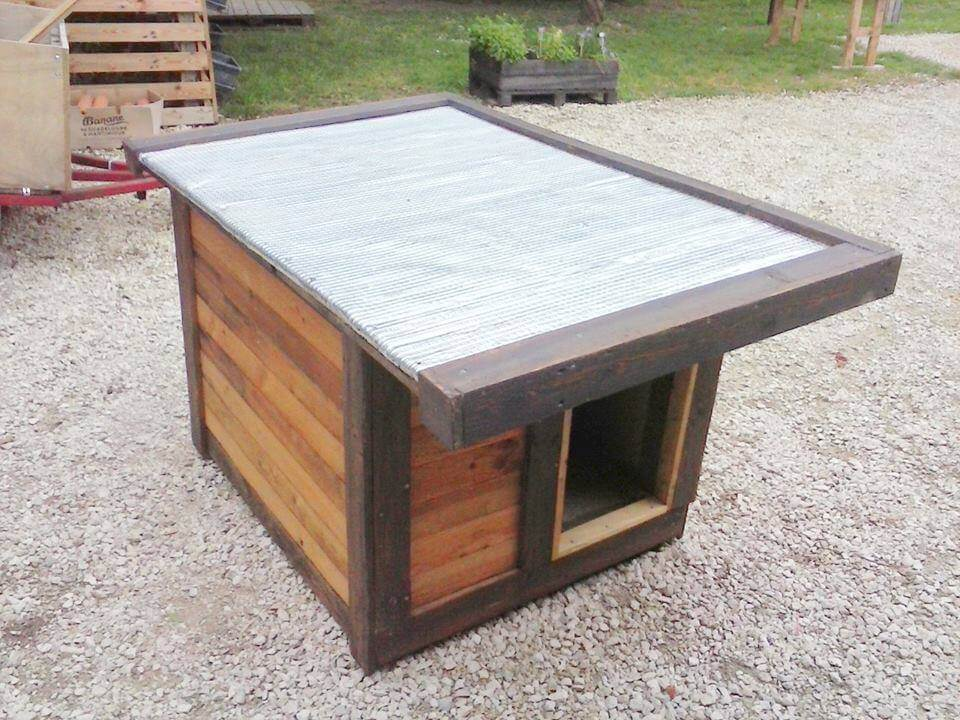 Reclaimed pallet wood ideas 99 pallets - How to build a dog house with pallets ...