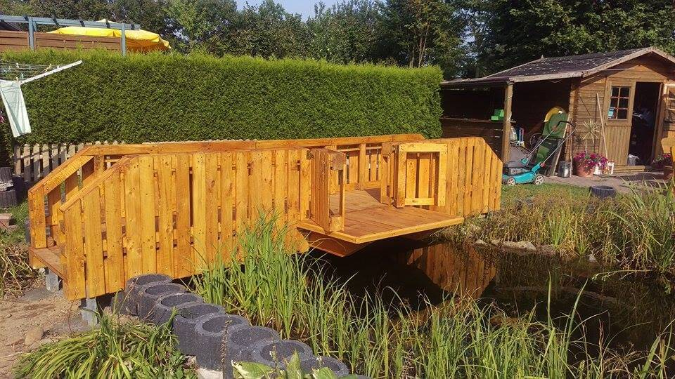Wooden Pallet Garden Bridge