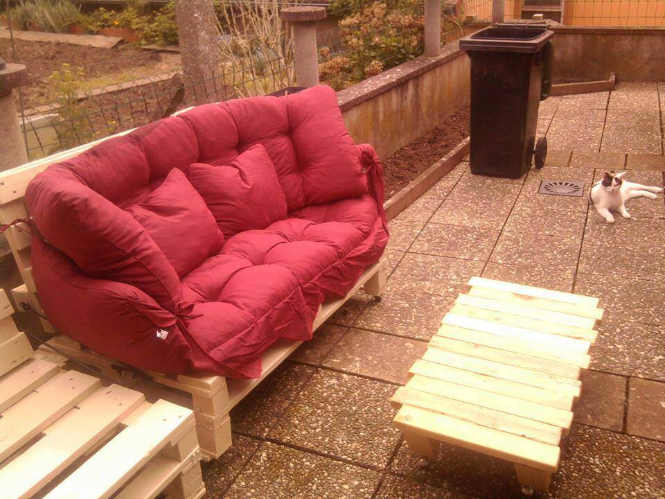 Diy Pallet Patio Sofa Set