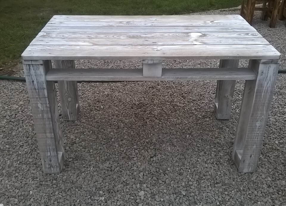 Wonderful Diy Pallet Reclaimed White Washed Tables 99 Pallets