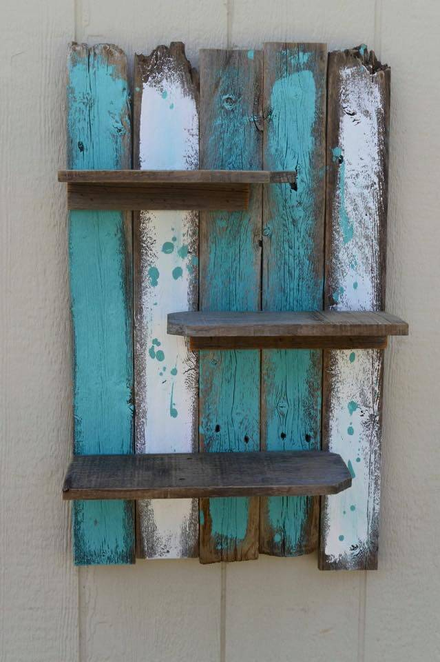 Diy pallet decorative wall shelf 99 pallets for Diy pallet home decor