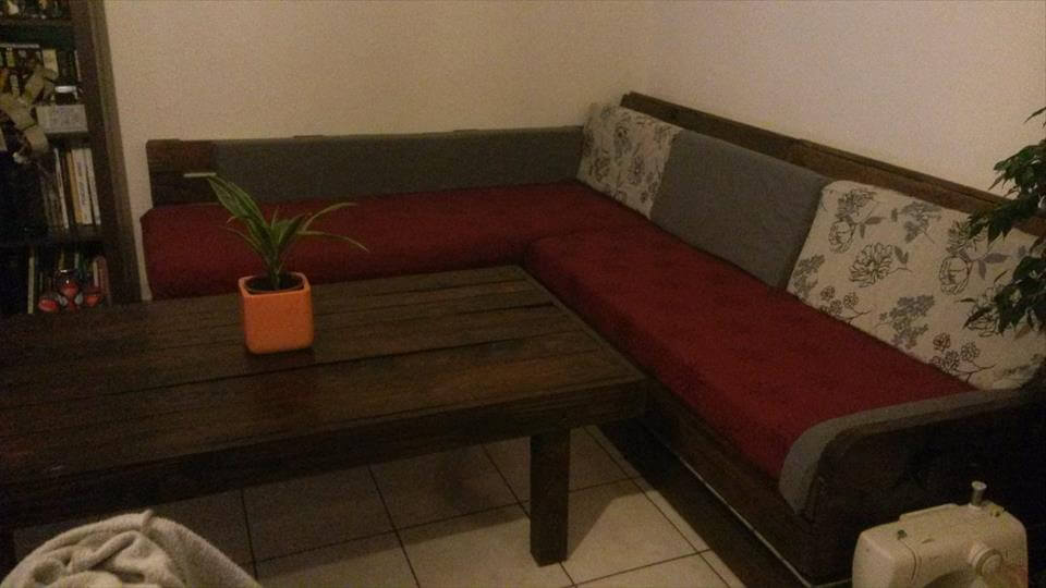 Coffee Table For Sectional Sofa diy pallet sectional sofa & coffee table | 99 pallets