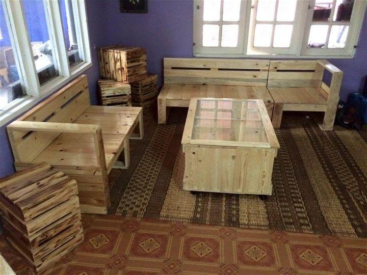 Pallet Living Room Furniture Set | 99 Pallets on Pallet Room  id=47000