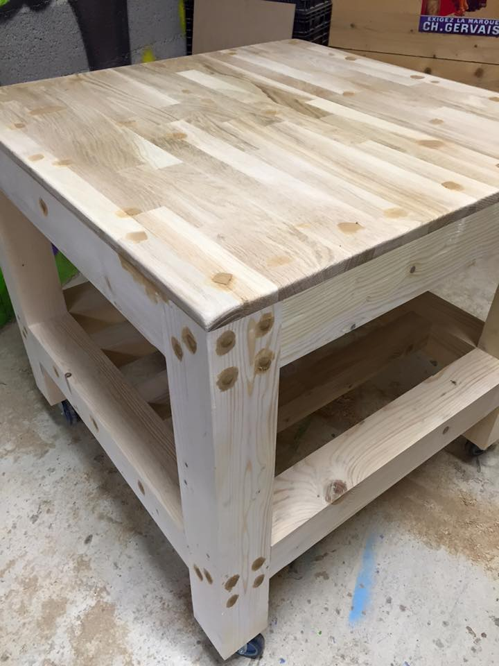 pallet square shape coffee table