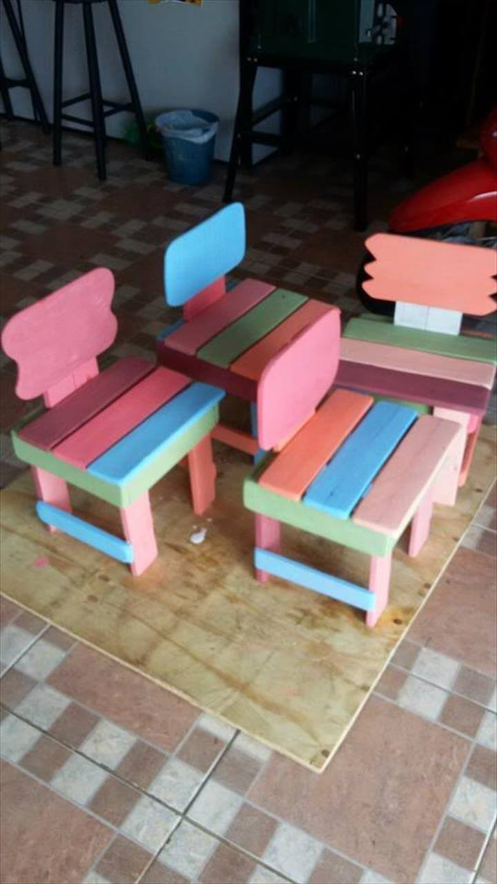 Recycled pallet kid's furniture