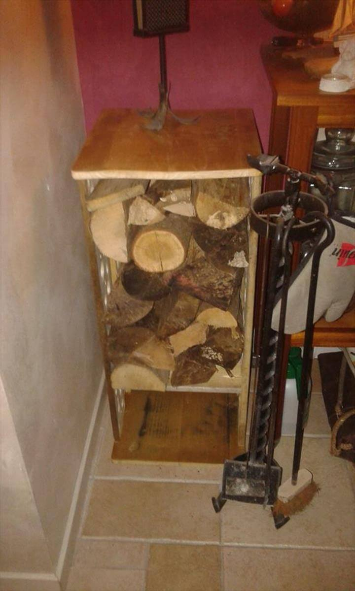 Superior Recycled Pallet Fire Wood Storage Box